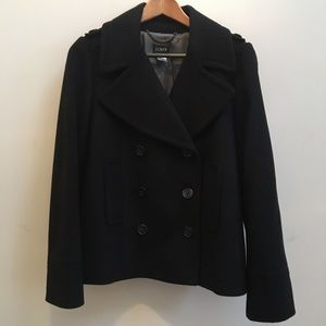 Almost New Jcrew Black Peacoat - worn once! Size 8